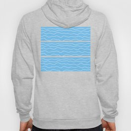 Turquoise with White Squiggly Lines Hoody