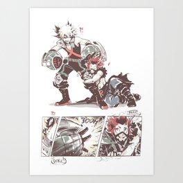 bnha_sketchy_messy Art Print