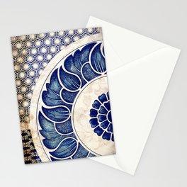 Blue Oriental Vintage Tile 05 Stationery Cards