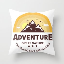 Great Nature Throw Pillow
