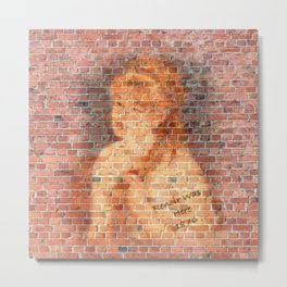 Graffiti Wall Painting Renoir Was Here 1876 Metal Print