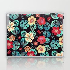 Watercolor Nasturtiums: In the Still of the Night Laptop & iPad Skin