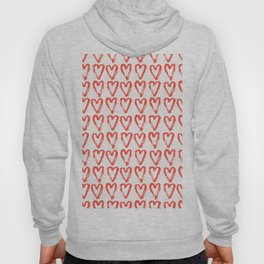 Heart Pattern Living Coral - hand painted Hoody