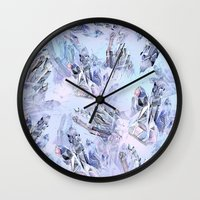 crystal Wall Clocks featuring Crystal by Lin.E