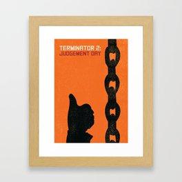 Terminator 2 Judgement Day Vintage Poster Framed Art Print