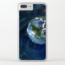 Earth Is In Trouble Clear iPhone Case