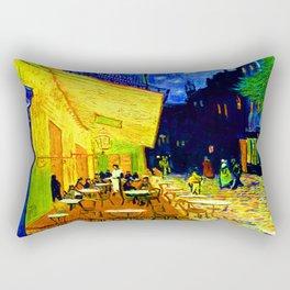 Van Gogh Cafe Terrace at Night Rectangular Pillow