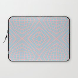 geometric, pink on blue Laptop Sleeve