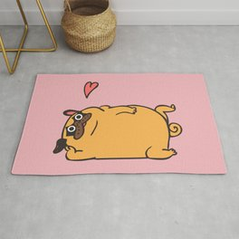 Rub My Belly Pug Rug