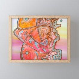 Something Jurassic In Pink Framed Mini Art Print