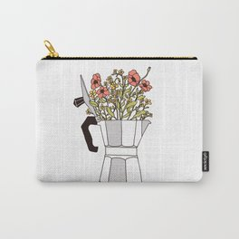 Moka Flowers Carry-All Pouch