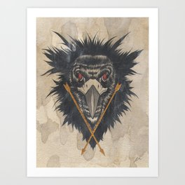 """""""Preyers"""" series, II (Vulture) Art Print"""