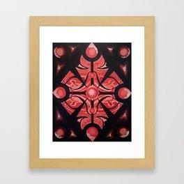 Pattern Red Black Framed Art Print