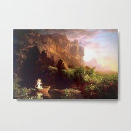 Voyage of Life: Childhood No. 1 of 4 by Thomas Cole Metal Print