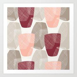 Abstract Vases Art Print