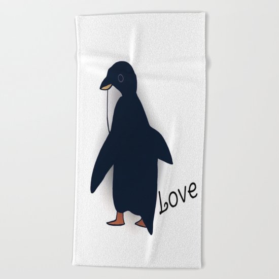 penguin-219 Beach Towel