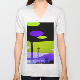 An Altered View of NYC Unisex V-Neck