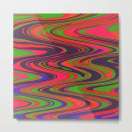 Neon Stream Metal Print