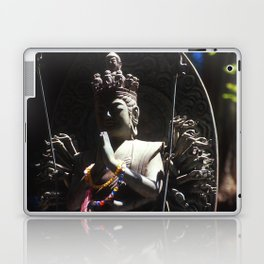 Buddhist Statue in Shadow Laptop & iPad Skin