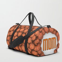 Basketball Mom / 3D render of hundreds of basketballs framing Mom text Duffle Bag