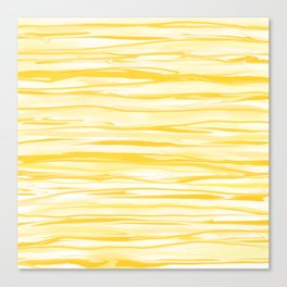 Milk and Honey Yellow Stripes Abstract Canvas Print