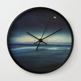 Currents - Abstract seascape Wall Clock