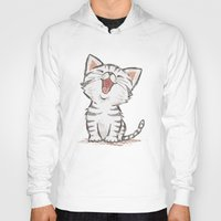 cat coquillette Hoodies featuring Cat by Toru Sanogawa