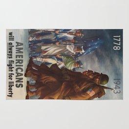 Vintage poster - World War II Rug