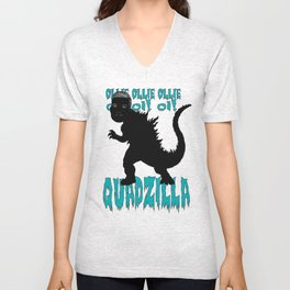 QUADZILLA (Ollie Wines #16) Unisex V-Neck