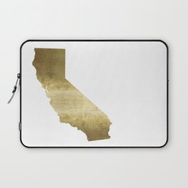 california gold foil state map  Laptop Sleeve