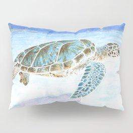 Sea turtle underwater Pillow Sham