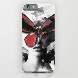 Red Butterfly iPhone Case