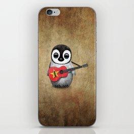 Baby Penguin Playing Vietnamese Flag Guitar iPhone Skin