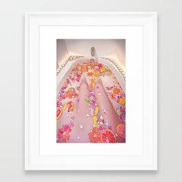 Flower Bath 7 Framed Art Print