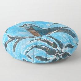Bird on a branch Floor Pillow