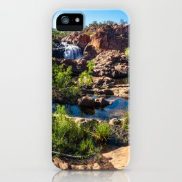 Panoramic view at Edith Falls, Katherine, Australia iPhone Case