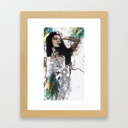 Wonder Abstract Portrait Framed Art Print