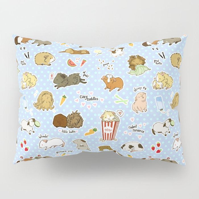 Guinea Pig Party! - Cavy Cuddles and Rodent Romance Pillow Sham