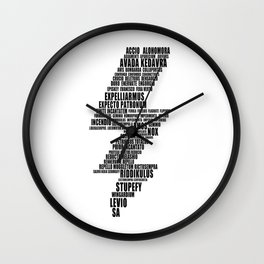 HarryPotter Lightning Spells Wall Clock
