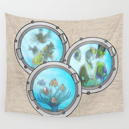 Triple Portholes Wall Tapestry
