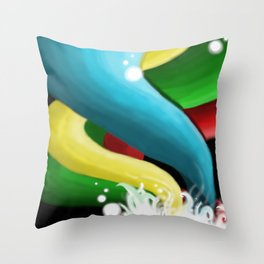 Painted Spirals GLOW Throw Pillow