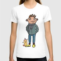 writer T-shirts featuring writer and cute can by Shrewd Jannet Vikink