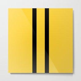 Bruce Bee Bumble Lee Stripes Metal Print