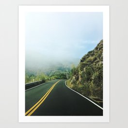 Pacific Coast Highway, CA Art Print