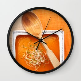 Pumpkin soup Wall Clock