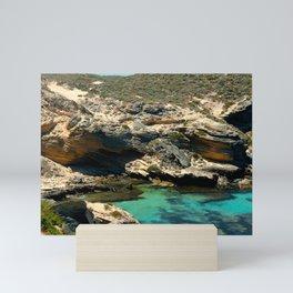 The small cliffs of rottnest island Mini Art Print