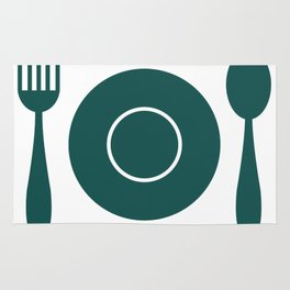 plate with cutlery Rug
