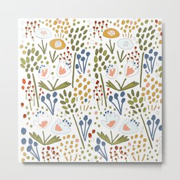 Flowery fields Metal Print