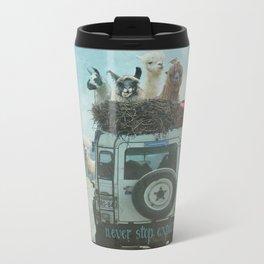 NEVER STOP EXPLORING II SUMMER EDITION Metal Travel Mug