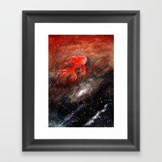 goldfish cosmos Framed Art Print